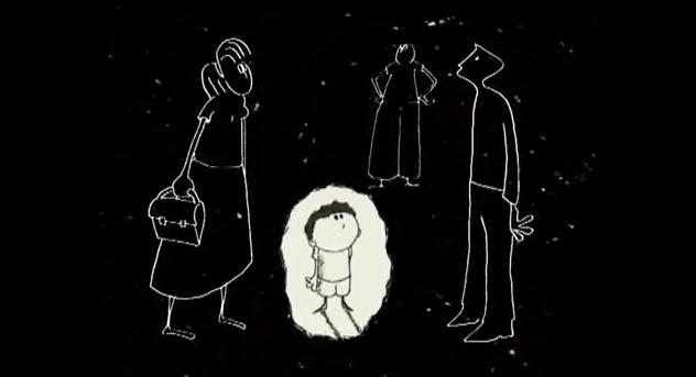 """Una sorellina racconta """"il fratellino dalla luna"""". Nel cartone…"""