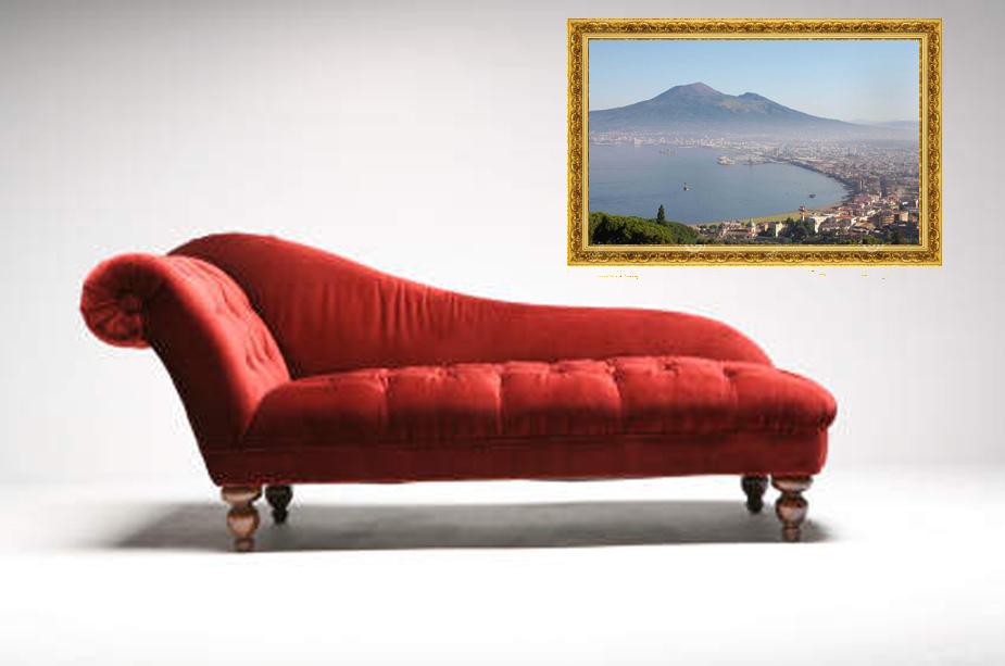 velvet chair on white background