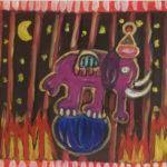 elefante viola